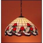 Lampa żyrandol zwis witraż ROSA 40cm