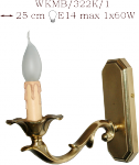 Kinkiet mosiężny JBT Stylowe Lampy WKMB/322K/1