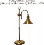 Lampka mosiężna JBT Stylowe Lampy WLMB/W28L/1(CBW340330)
