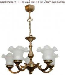 Żyrandol mosiężny JBT Stylowe Lampy WZMB/207/5