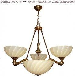 Żyrandol mosiężny JBT Stylowe Lampy WZMB/785/3+3