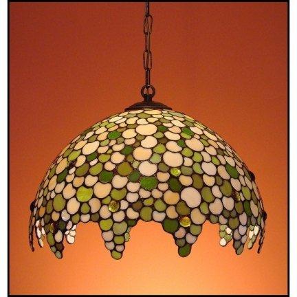 Lampa żyrandol zwis witraż KROPLA 50cm