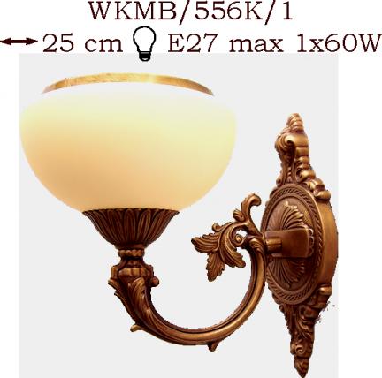 Kinkiet mosiężny JBT Stylowe Lampy WKMB/556K/1