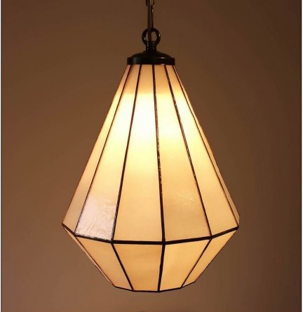 Lampa żyrandol zwis witraż ARTDEC 25cm