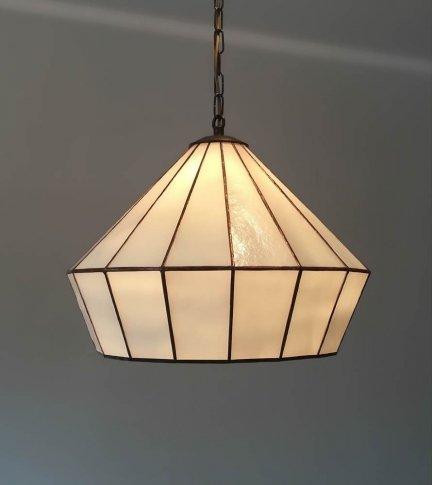 Lampa żyrandol zwis witraż ARTDEC 40cm
