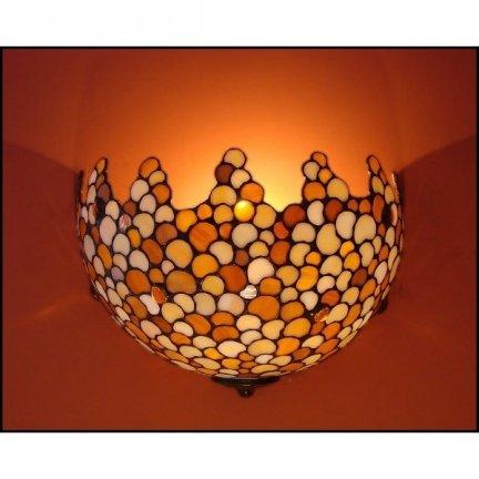 Lampa ścienna kinkiet witraż KROPLA 30cm