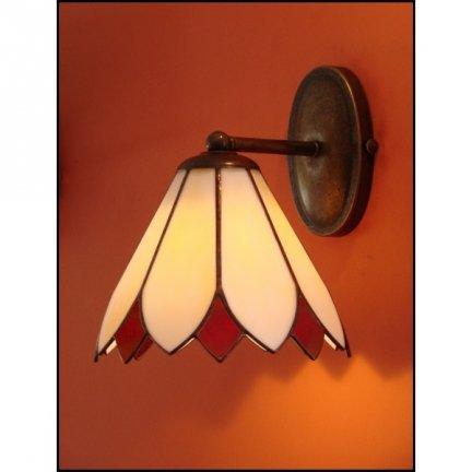 Lampa ścienna kinkiet witraż TULIPAN 20cm