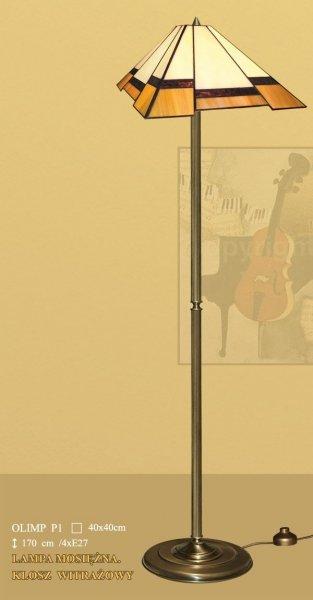 Lampa witrażowa podłogowa stojąca OLIMP P1