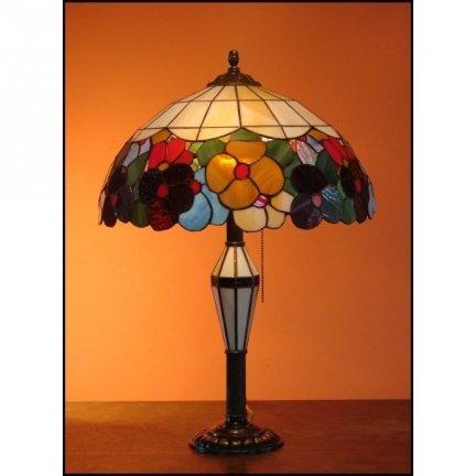 Lampka witrażowa nocna biurkowa WIOSNA H-60 cm