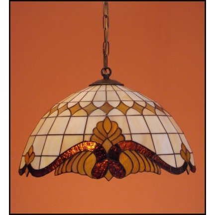 Lampa żyrandol zwis witraż Classic z karem 50cm