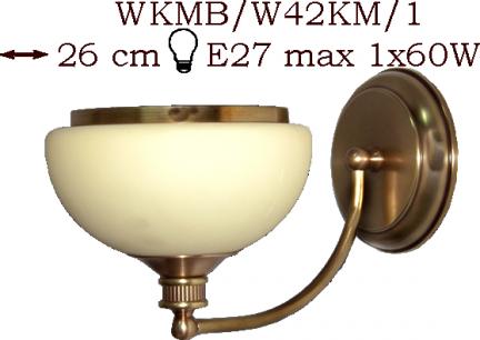 Kinkiet mosiężny JBT Stylowe Lampy WKMB/W42KM/1
