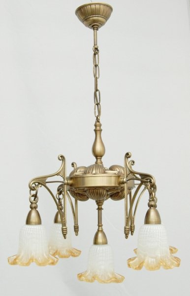 Żyrandol mosiężny JBT Stylowe Lampy WZMB/840/1+4