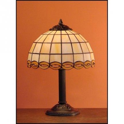Lampka witrażowa nocna biurkowa WARKOCZ H-34 cm
