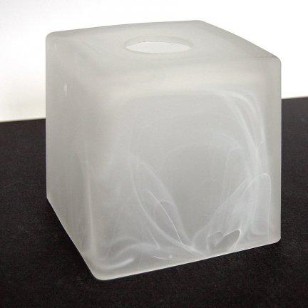 Klosz szklany kwadrat żyrandol kinkiet E27