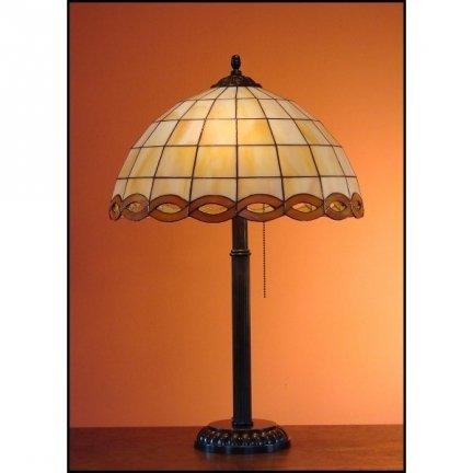 Lampka witrażowa nocna biurkowa WARKOCZ H-60 cm