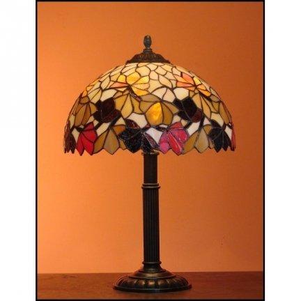 Lampka witrażowa nocna biurkowa JESIEŃ H-48 cm