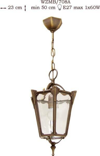 Żyrandol mosiężny JBT Stylowe Lampy WZMB/708A