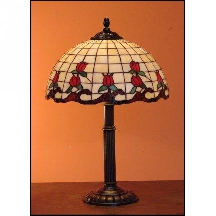 Lampka witrażowa nocna biurkowa ROSA H-48 cm