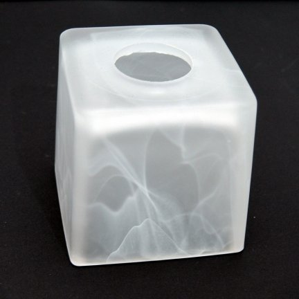 Klosz szklany kwadrat 10x10cm żyrandol kinkiet E27