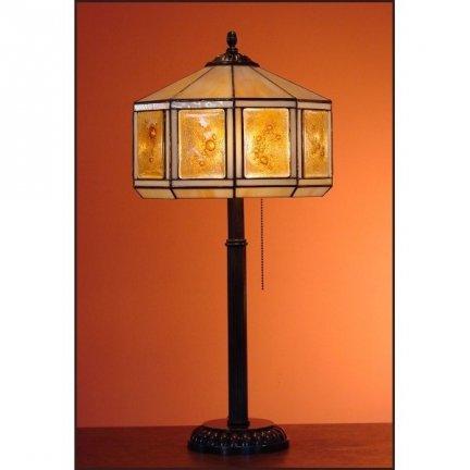 Lampka witrażowa nocna biurkowa MIÓD H-60 cm