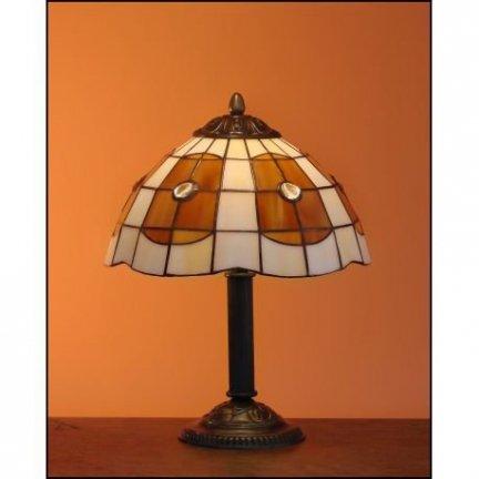 Lampka witrażowa lampa nocna biurkowa PARASOL H-34cm