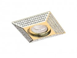Downlight PIRAMIDE L Gold AZzardo NC1674SQ-GO