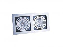 Lampa techniczna SISTO 2 Aluminium AZzardo GM2202 ALU
