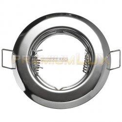 Oprawa halogenowa sufitowa ALFA okrągła stała Chrom połysk LUX01224