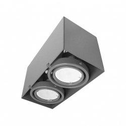 LAMPA SUFITOWA BLOCCO SZARY 2x7W GU10 LED Milagro