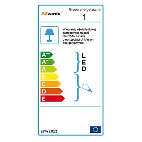 Lampa wisząca AZzardo Adam 2 S Black MD2299-2S BK