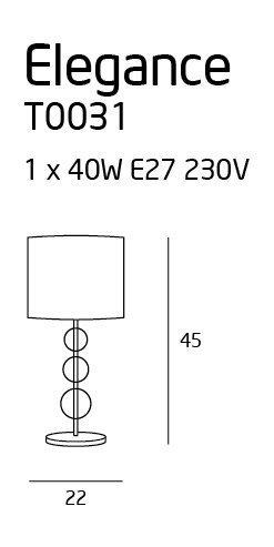 ELEGANCE lampa biurkowa T0031 MAXlight