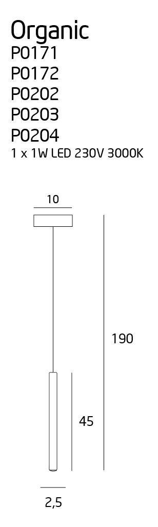 ORGANIC COPPER lampa wisząca P0171 MAXlight