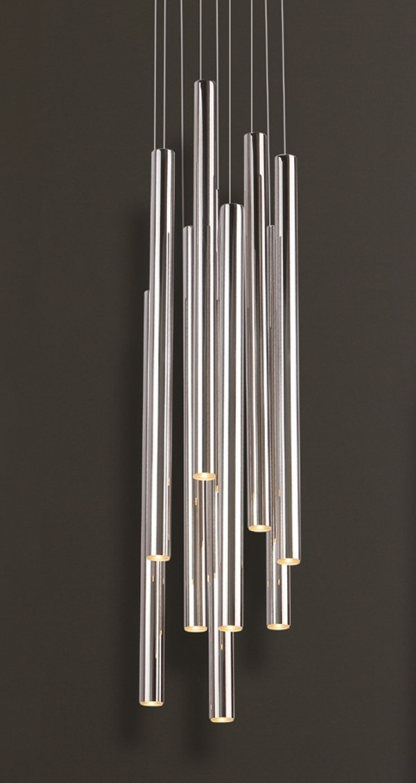 ORGANIC CHROM lampa wisząca średnia P0206 MAXlight