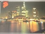 SINGAPORE. NIGHT VIEW OF COMMERCIAL AREA