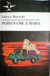 POŻEGNANIE Z MARIĄ - Tadeusz Borowski 1988