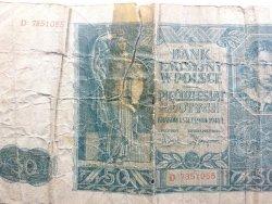 BANKNOT. BANK EMISYJNY W POLSCE 50 ZŁ D 7851055