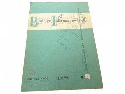 BIULETYN INFORMACYJNY ROK 1968-XVIII STYCZEŃ 1