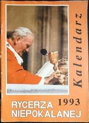 RYCERZA NIEPOKALANEJ 1993 KALENDARZ