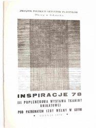 INSPIRACJE 78 III POPLENEROWA WYSTAWA TKANINY UNIKATOWEJ 1979
