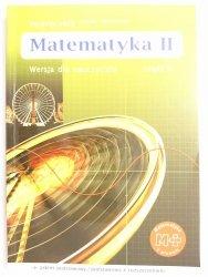 MATEMATYKA II WERSJA DLA NAUCZYCIELA CZĘŚĆ II PODRĘCZNIK Dobrowolska 2004