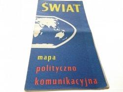 ŚWIAT. MAPA POLITYCZNO KOMUNIKACYJNA 1971