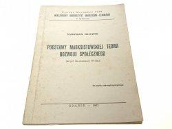 PODSTAWY MARKSISTOWSKIEJ TEORII ROZWOJU (1982)