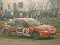 RAJD WRC 2005 ZDJĘCIE NUMER #292 HONDA CIVIC