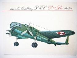 SAMOLOT BOMBOWY PZL P-37 ŁOŚ 1938 r.