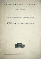 WSTĘP DO PRAWOZNAWSTWA - Tomasz Langer 1984