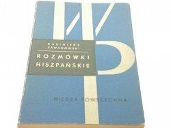ROZMÓWKI HISZPAŃSKIE - Kazimierz Zawanowski 1967