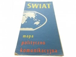 ŚWIAT. MAPA POLITYCZNO KOMUNIKACYJNA (1972)