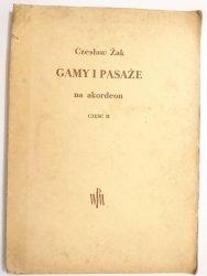 GAMY I PASAŻE NA AKORDEON CZĘŚĆ II - Czesław Żak 1954