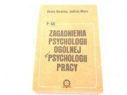 P-65 ZAGADNIENIA PSYCHOLOGII OGÓLNEJ I PSYCHOLOGII PRACY