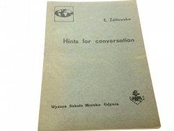 HINTS FOR CONVERSATION - E. Żółtowska (1985)